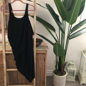 NWOT high low asymmetrical black dress